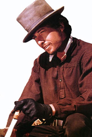 [Bob Dylan as  Alias in Pat Garrett and Billy the Kid.]