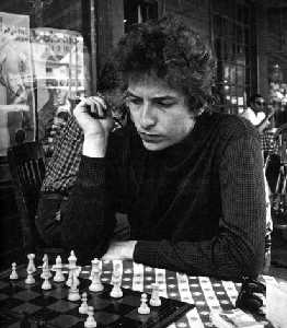 [Probably in the Cafe Espresso in Woodstock, Dylan contemplates White's offense]