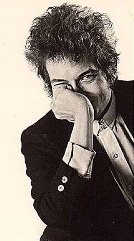 [A Dylan postcard; the photograph is from the Sixties]