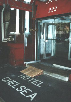 [Foyer of the Chelsea Hotel]